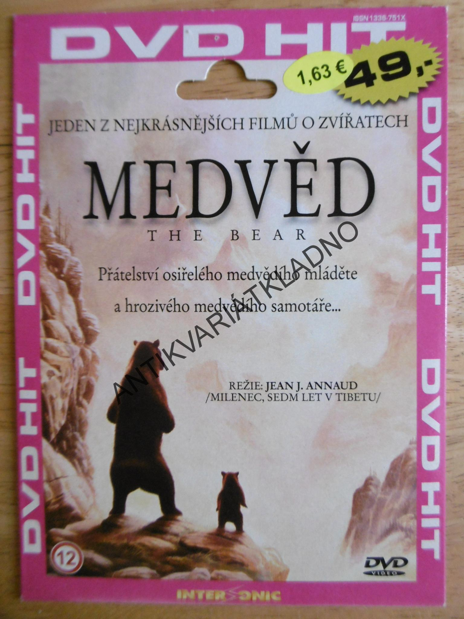 MEDVĚD, THE BEAR, DVD FILM
