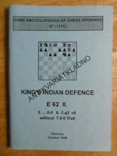 KING´S INDIAN DEFENCE E 62 II., ANGLICKY, 1996, ŠACHY