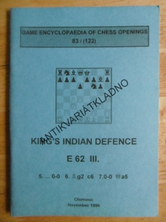 KING´S INDIAN DEFENCE E 62 III., ANGLICKY, 1996, ŠACHY