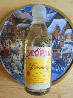 MINI ALKOHOL SBĚRATELSKÝ- 50 ML, SLOPAK BRANDY